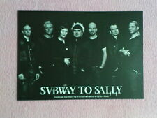 1 Autogramm-/Postkarte SUBWAY TO SALLY (In Extremo/Saltatio Mortis/Mittelalter)