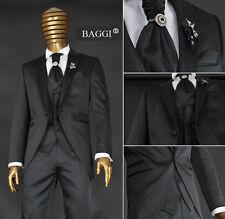 * 105 * 9 piezas Design cut señores traje! bodas traje traje gala talla 46 negro