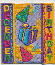 Scout DECEMBER BIRTHDAY Fun Patches Crests Badges GIRL BOY Cub GUIDES Party