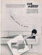 PUBLICITE ADVERTISING 115  1961  STEINER  sièges canapés  fauteuils
