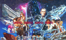 Star Wars 70's Vintage Edible Birthday Cake Topper Frosting Icing 1/4 Sheet