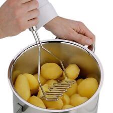 Stainless Steel Potato Masher Wave Shape Fruit Vegetable Crusher Tool Kitchen UK