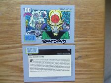 1991 DC COSMIC DOMINATORS ALIEN INVASION CARD SIGNED BART SEARS ART,WITH POA