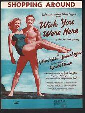 Shopping Around 1952 Wish You Were Here