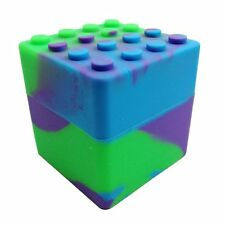 XXL Silicone Stackable Container Wax Dab Oil Jar 60ML Green/Purple/Blue