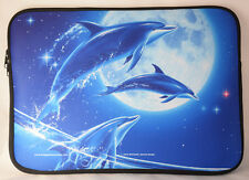 Dolphins Laptop Carrying Case Sleeve by Michael Ward. Design: Handle only (no sh