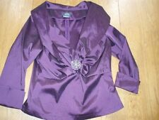 Dressbarn Collection Aubergine Evening Top UK14 BNWOT - Cruise