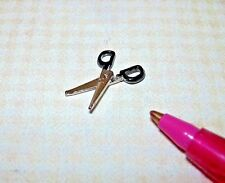 """Miniature TINY Hinged/Moving Metal Scissors (11/16"""" Long) for DOLLHOUSE 1/12"""