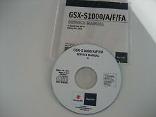 SUZUKI GSX-S 1000 + ABS ab L6 REPARATUR CD WERKSTATT HANDBUCH SERVICE MANUAL NEU
