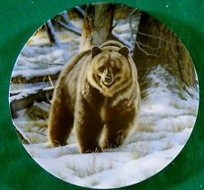 The Grizzly Bear Paul Krapf Wild And Free Canadas Big Game Collector Plate