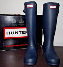 Hunter Women's Navy Rubber Rain Boots Original Tall Size 7 W23499 K5 1113