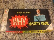 MILTON BRADLEY ALFRED HITCHCOCK WHY? MYSTERY BOARD GAME 1961 DETECTIVE WHODUNNIT