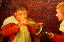 ENFANTS DE CHOEUR. HUILE SUR TOILE. SIGNÉ ALCÁZAR TEJEDOR. ESPAGNE. FIN XIX.