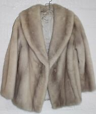 LASTCALL Vintage EMBA ColdStorage Hip Length NATURAL Blonde MINK FUR Coat 8 10 M