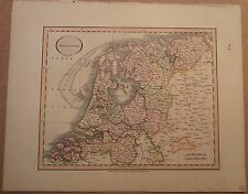 JOHN CARY MAP OF HOLLAND 1813 FROM HIS New Elementary Atlas