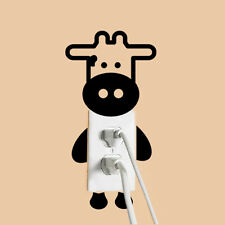 Cartoon Animals Cow light switch funny wall decal vinyl stickers living room