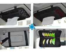 Car Accessories Sun Visor CD Folder + Tissue Box Holder Paper Napkin PU leather