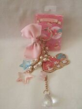 Sanrio Little Twin Stars + My Melody  kiki & Lala  Strap star bow key ring