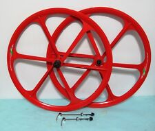 "NEW Mag Alloy All-Red 26"" Bike Rims For MTB 8/9 Gears, Disc Only"