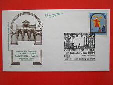 ENVELOPPE PREMIER VOL CONCORDE AIR FRANCE SALZBURG PARIS 23/4/1984 SCHWARTZ