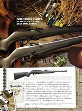 2003 Remington Model 597 .22 Rifle Ad Original Hunting Advertising