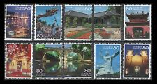 Japan 3469a-j Scenery of the Trip 16 [10 USED Stamps]