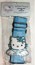 NEW Rare Sanrio Japan Angel Blue Hello Kitty Luggage Baggage Strap with Name Tag