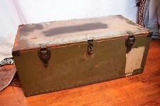 1942 Vtg ABEL & BACH WWII Military Army Trunk Case Locker Box Antique WW2