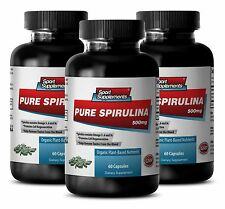 Organic SPIRULINA  500mg 100% Plant-Based  Extract, Weight Loss,Potassium 3Bot