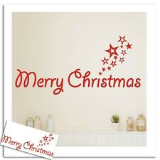 Merry Christmas Stars Removable Wall Art Quotes Stickers Vinyl Decal Decor DIY