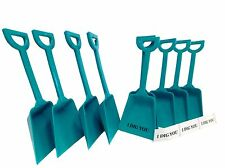 25 Teal Toy Shovels & 25 I Dig You Stickers Mfg USA Great Party Favors Lead Free