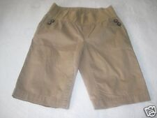 GAP MATERNITY DEMI PANEL LIGHT BROWN STRETCH CROPPED PANTS-2-BARELY WORN-NICE