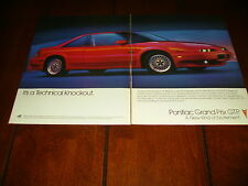 1992 PONTIAC GRAND PRIX GTP ***ORIGINAL 2 PAGE ADVETISEMENT / PRINT AD***