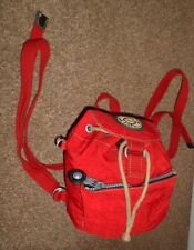KIPLING RED SMALL BACK PACK RUCK SACK BAG NEW CONDITION