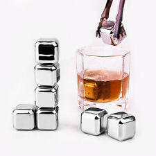 New Stainless Steel Whiskey Stones Rock Ice Cubes Soapstone Cooler Stone Freezer