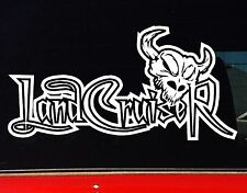 LANDCRUISER 4x4 Offroad ute series LONGHORN SKULL Car Stickers 200mm