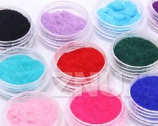 Nail Art 12 Color UV Gel Velvet Flocking Dust Powder Decoration Tips Nail Polish