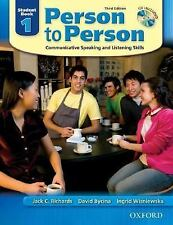 Person to Person: Communicative Speaking and Listening Skills, Student Book 1