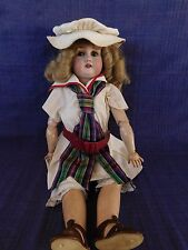 "Gebruder Kuhnlenz DOLL German with Bisque Socket Head 21"" tall Gbr. 165 K/6"