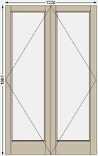 French doors Pair PATT20 external/Internal Engineered Softwood made to measure