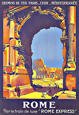 Art Ad Rome Travel   Deco Poster Print