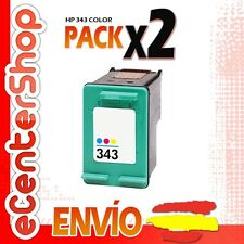 2 Cartuchos Tinta Color HP 343 Reman HP Photosmart C3180