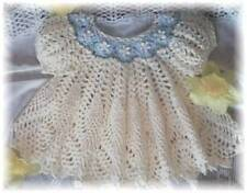"CROCHET PATTERN for ""DAINTY DOILY"" Baby Dress  by REBECCA LEIGH-6/9--12/18 MOS."
