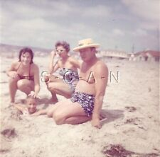 Vintage Large Color RP- Girl- Mother- Daughter- Bathing Suit- Beach- Comic- 1960