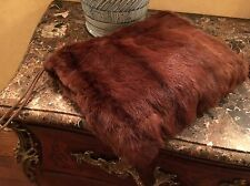 Vintage Fur Mink? Fur Muffler Hand Warmer Bag Evening Wear Formal So Chic!