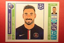 PANINI CHAMPIONS LEAGUE 2014/15 N. 445 LAVEZZI PSG BLACK BACK MINT!