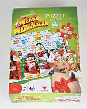 Christmas Puzzle Merry Madagascar 24 jumbo pieces 3 years and up Complete