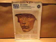 1991 German Calendar Bundesverbandes Der Soldaten Der Ehemaligen Waffen-SS