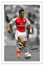 ALEXIS SANCHEZ ARSENAL SIGNED AUTOGRAPH PHOTO PRINT 2014/15 SOCCER