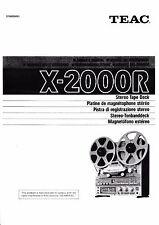 Owner's Manual/manual de instrucciones para TEAC x-2000r